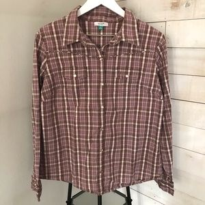 Old Navy Womens Plaid Shirt Size XL
